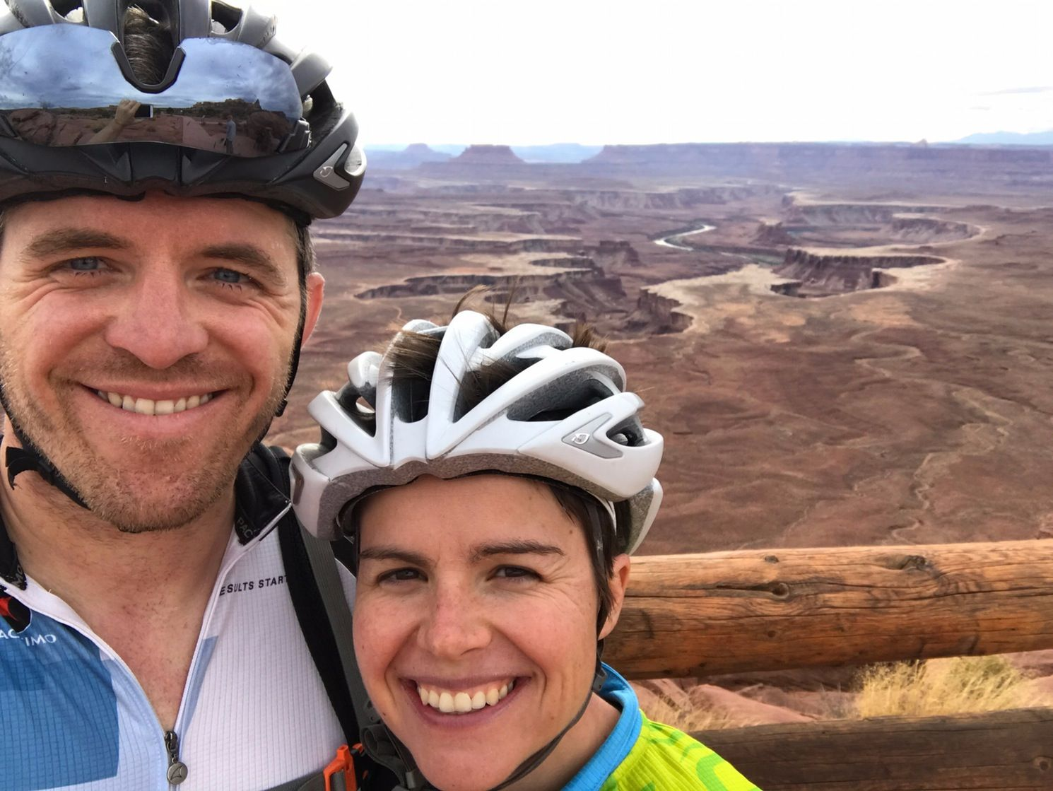 Riding bikes through Canyonlands National Park, Utah (Nov 2016)