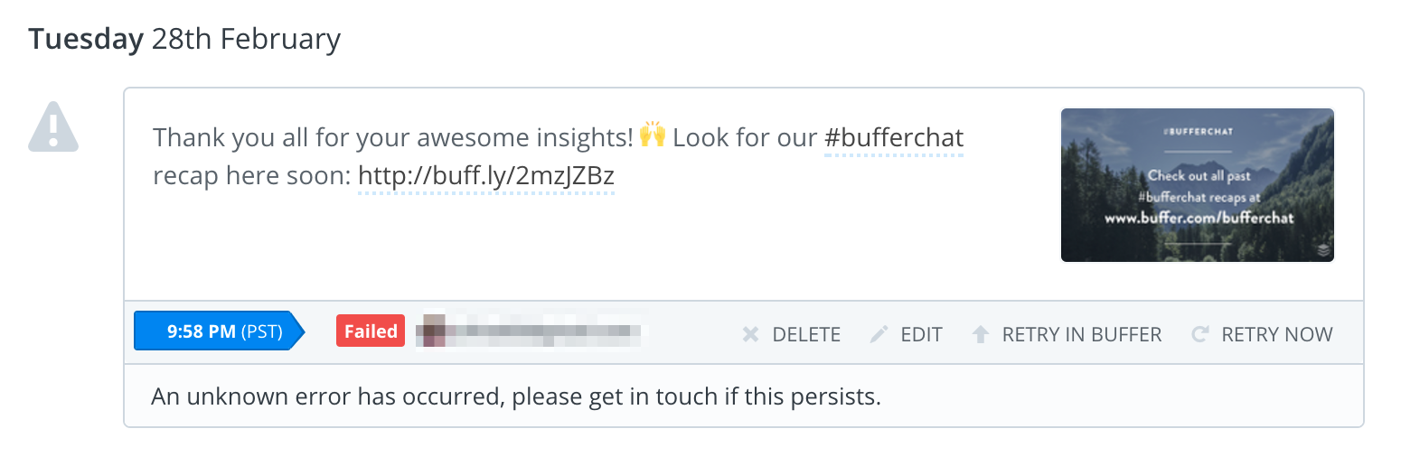 Retry in Buffer failed post