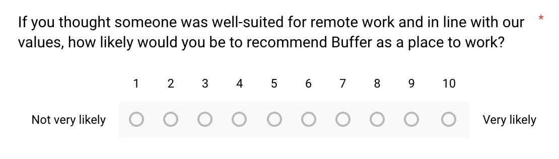 team satsifaction survey NPS