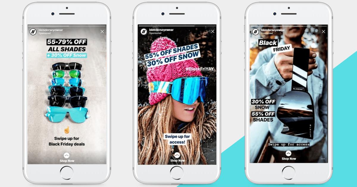 Blenders Eyewear Instagram Stories Examples