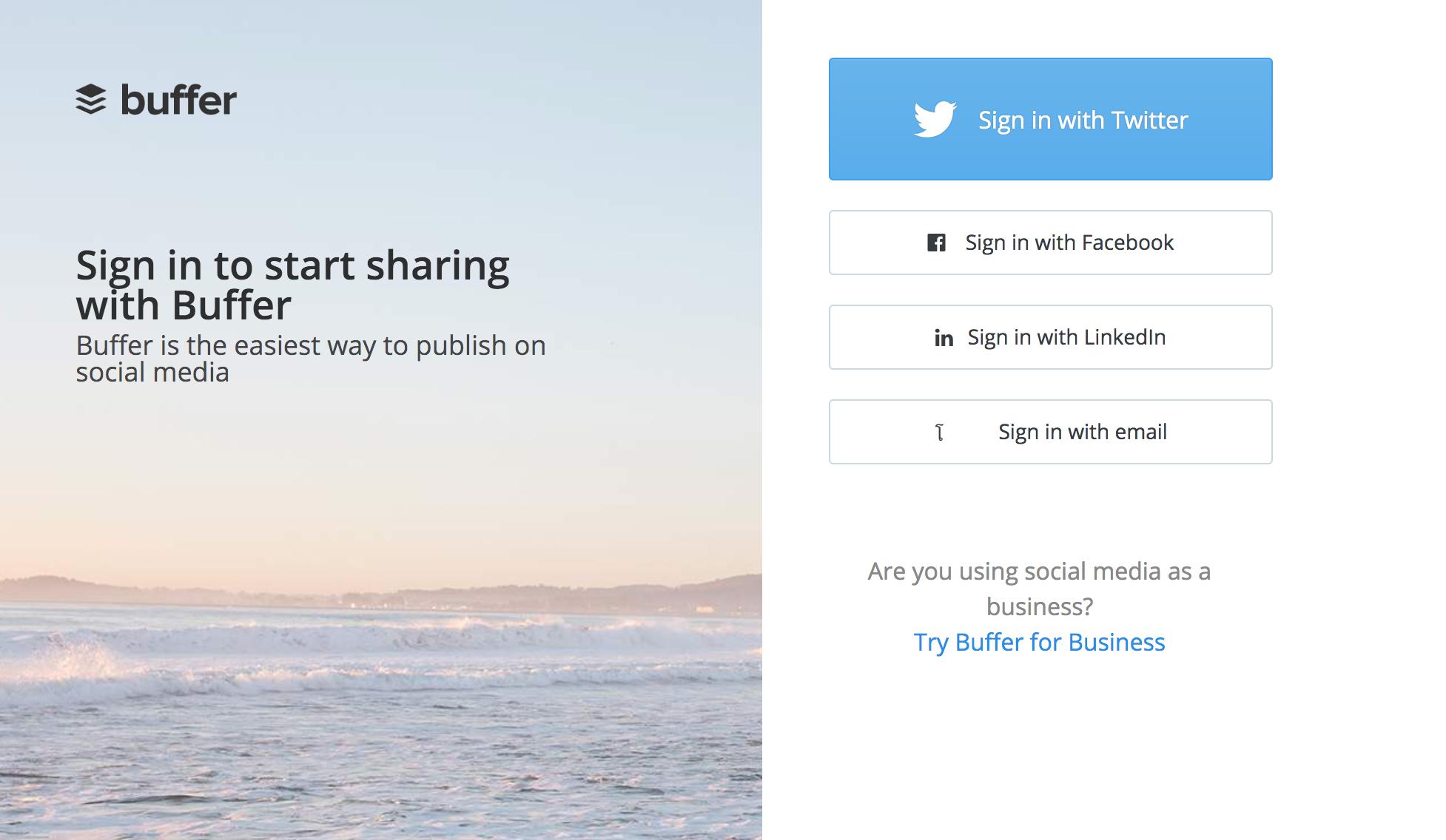Buffer app website 2015