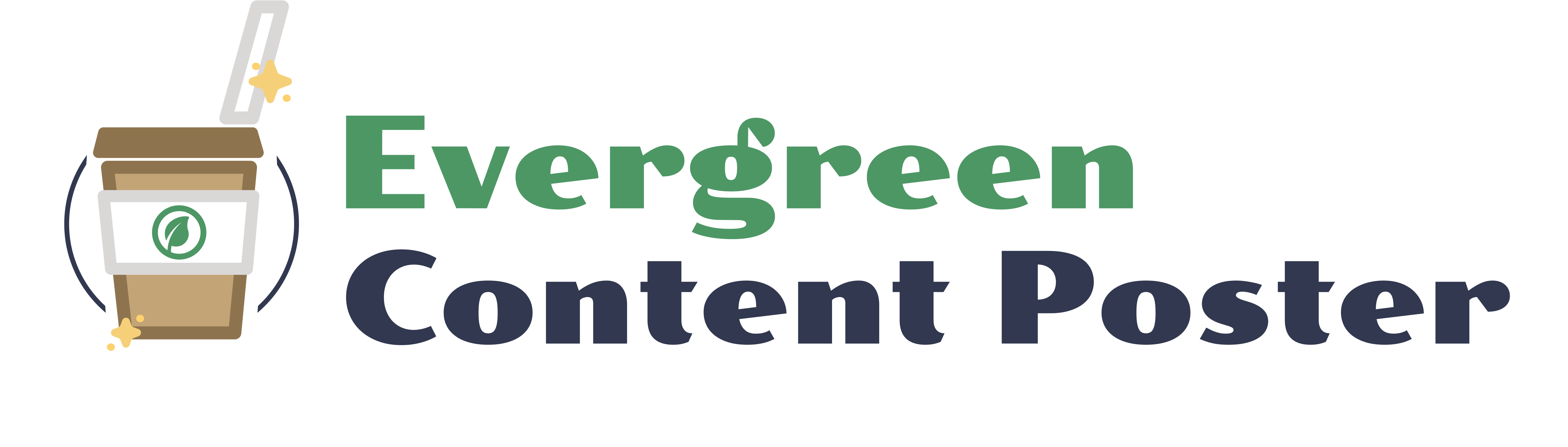 Evergreen Content Poster logo